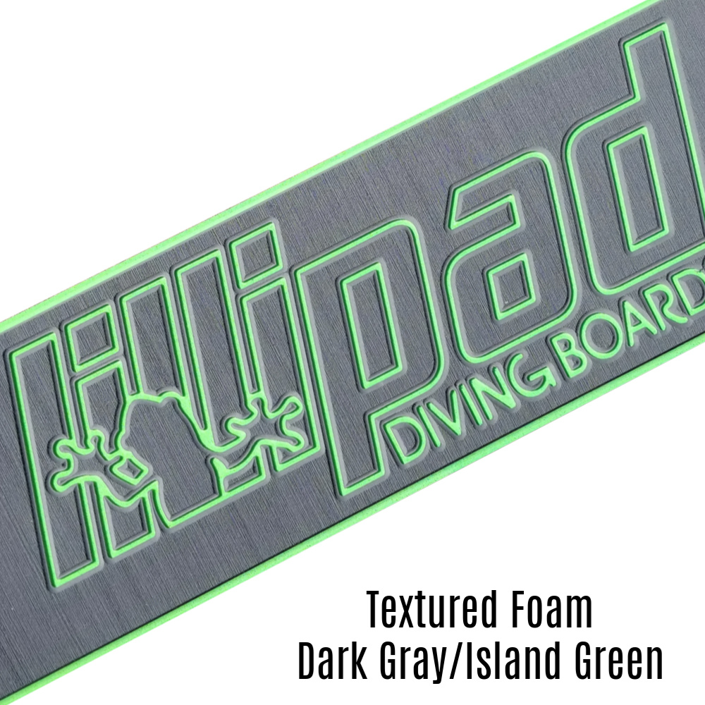 Dark Gray & Island Green